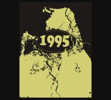 1995 Yellow, black retro vintage T-shirt by Nhan Ngo