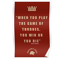 Lannister Quote 2 Poster