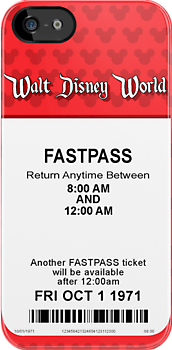 Walt Disney World's Opening Day Fastpass (Red) by Rechenmacher