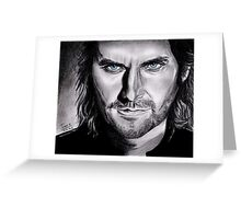 Richard Armitage, the dark side of Gisborne Greeting Card