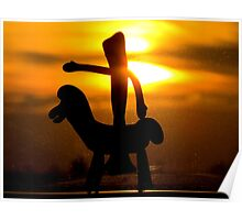 Gumby rides into the sunset Poster