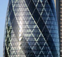 The Gherkin - Vertical Panoramic by CalumCJL
