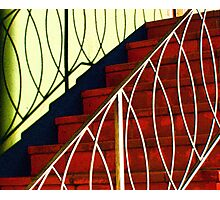 Red Steps and Loopy Shadows Photographic Print
