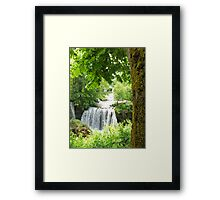 waterfall at Rastoke in Croatia Framed Print
