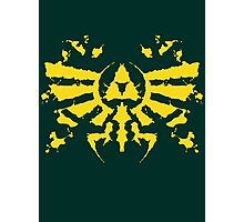 Hyrule Rorschach (gold) Photographic Print