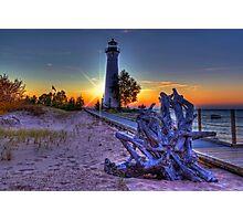 Sunset at Crisp Point Lighthouse Photographic Print