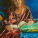 Portrait of Kerry Greenwood, author. Artist: Elizabeth Moore Golding 2011 by Elizabeth Moore Golding