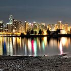 Stanley Park &amp; Vancouver @ Night CROP (HDR Panorama) by James Zickmantel