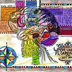 Life Map, Left Brain Alma Lee,sketchbook project 2012 by Alma Lee