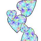 Blue, blue heart by Sheila Laurens