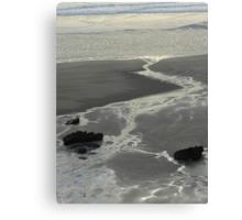 Shapes on a winters shoreline Canvas Print