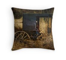 The Cart Before the Horse Throw Pillow
