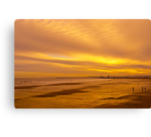 Golden beach and sky Canvas Print