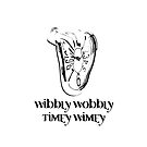 Wibbly Wobbly Timey iPhone by design89