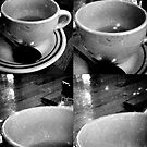 lipstick stained cups at the diner by ShellyKay