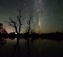 Comet Lovejoy Reflections by Wayne England