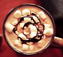 Cocoa with marshmallows by Ariellethomas
