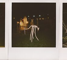 Tape dog, Tapedog Triptych 2, COWS and Night by Jason Franklin