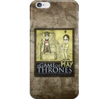 A Game of Hay Thrones iPhone Case/Skin