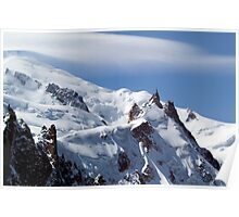 Summit of Mont Blanc and L'Aiguille Du Midi Poster