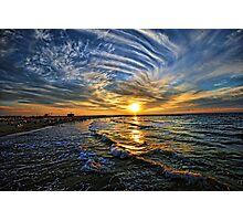 hypnotic sunset  Photographic Print