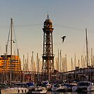 Sunset over the harbour by Nayko
