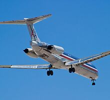 Rear shot of N487AA American Airlines, McDonnell Douglas DC-9 by Henry Plumley