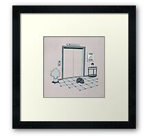 Elevator Slinky Framed Print