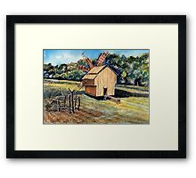 Windmill in the Forest Framed Print