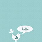Hello 4s & 4 iphone case by red addiction
