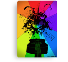 The Colour of Music Canvas Print