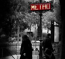Paris Metro Entrance-Paris, France by John Taylor