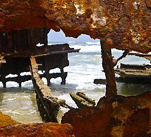 Fraser Island , Maheno Shipwreck  by Nina  Matthews Photography