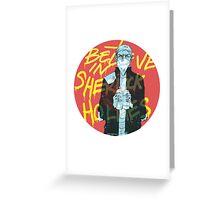 I Believe In Sherlock Greeting Card