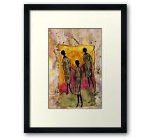 Just the THREE of Us Framed Print