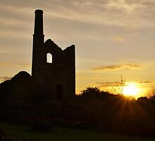 Cornish tin mine by blondesurfguy