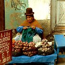 Lady by the road - La Paz - Bolivia by bouche