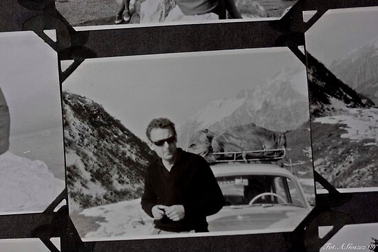♥ ♥ ♥ ♥  My Father ♥ ♥ ♥ ♥  . San Bernardino Pass . a.d. 1963 .  High mountain pass in the Swiss Alps. by Brown Sugar. Views (154) favorited by (3) thank you . by © Andrzej Goszcz,M.D. Ph.D