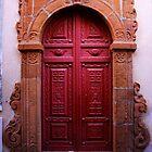 A Red Door in Calascibetta, Sicily 2012 by Igor Pozdnyakov