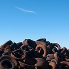 Tire pile, Wingham by Syd Winer