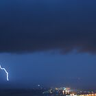 Airport and the thunderstorm by Peter Holland