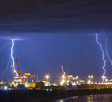 Lightning over Fremantle by Ross Cox