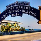 Santa Monica Pier Sign. Series. 1 of 5 by RickyBarnard