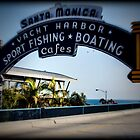 Santa Monica Pier Sign. Series. 3 of 5. Holga Color by RickyBarnard