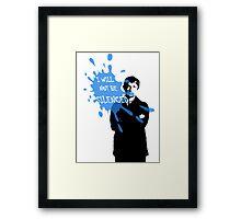 I Will Not Be Silenced - John - BBC Sherlock Framed Print