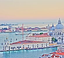 A View Of Venice From The Belltower by daphsam