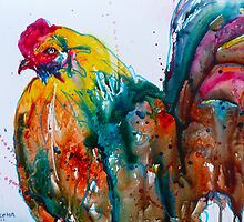 Crazy Rooster by Lora Garcelon