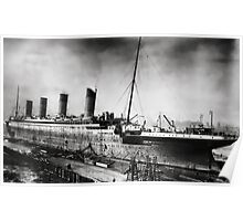 Titanic - Fitting out, Thompson Drydock Poster