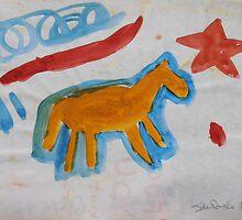 Magic Gold Horse by John Douglas