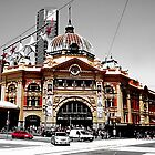 Flinders Street Station, Melbourne. by Steph Etheridge